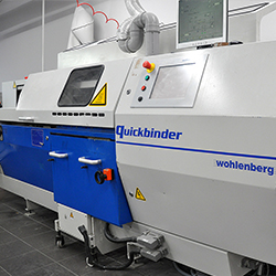 Thermal gluing equipment Wohlenberg Quickbinder
