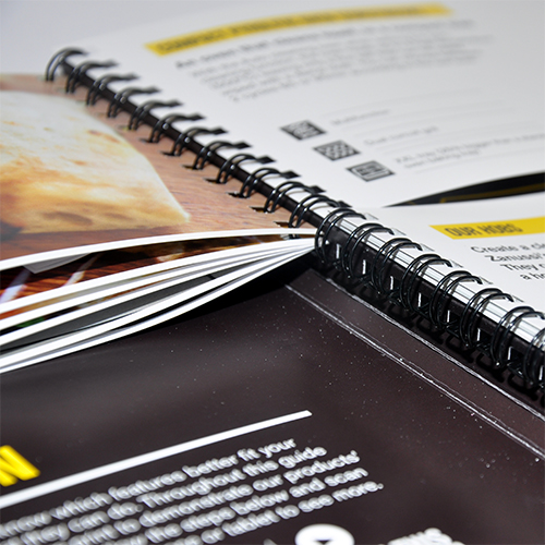 Wire-O binding brochures